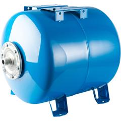 Расширительный бак, гидроаккумулятор 200 л. горизонтальный (цвет синий) Stout