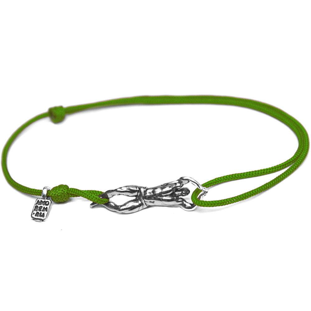 Swim bracelet, sterling silver