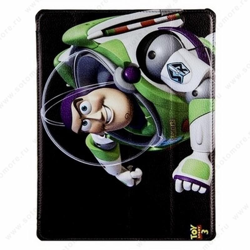 Чехол-книжка Jisoncase PU для Apple iPad Air 1 с рисунком черный вид 85