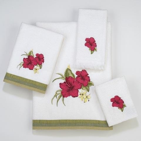 Полотенце 41х76 Avanti Hibiscus белое