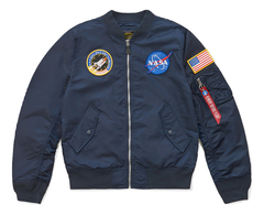 бомбер Alpha Industries L-2B NASA Replica Blue
