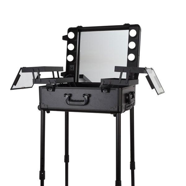 Купить Бьюти кейс визажиста на колесиках (мобильная студия) LC003 Black