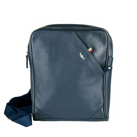 Кожаная сумка через плечо  Aeronautica Militare blue, AM-311, фото 2