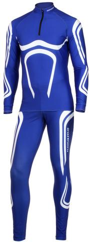 Раздельный лыжный комбинезон Dragos blue-white Noname лайкра NNW0000233
