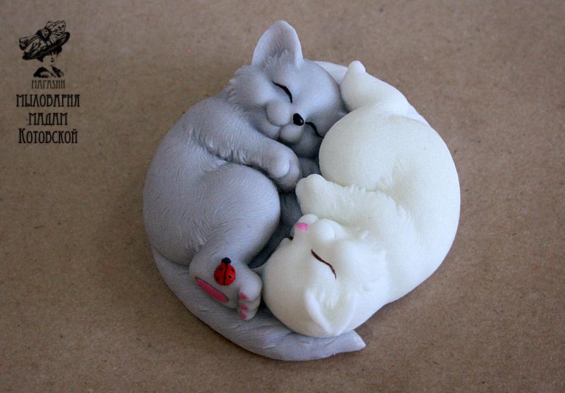 Котята Инь-Ян, форма силиконовая