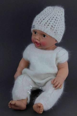 Шапочка для новорожденных модель