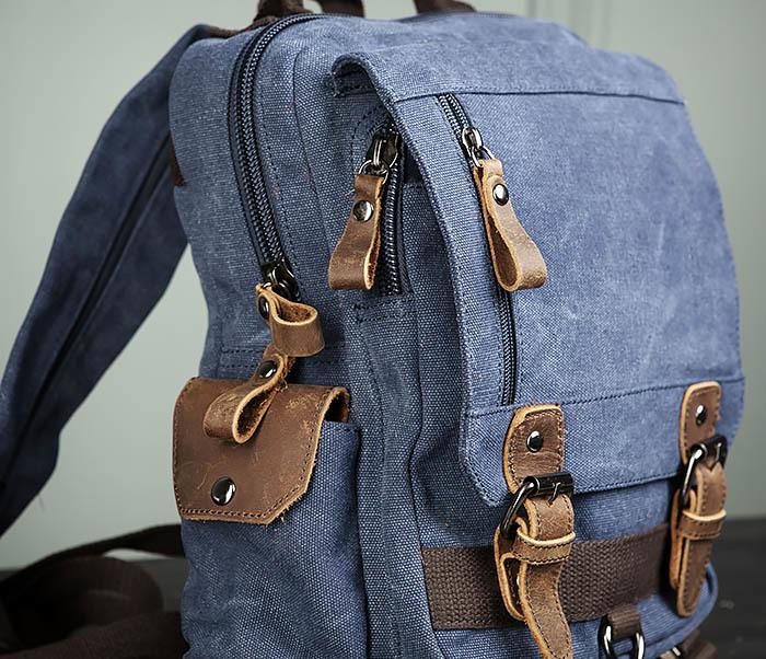 BAG476-4 Городской рюкзак синего цвета USB выходом фото 03