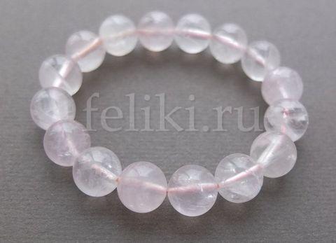 браслет из розового кварца (б-0431)