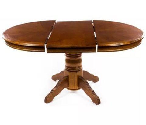 Стол обеденный 4260 STP круглый раскладной деревянный дуб в красноту
