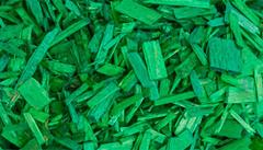 Декоративная щепа зеленая (мульча) 60 л