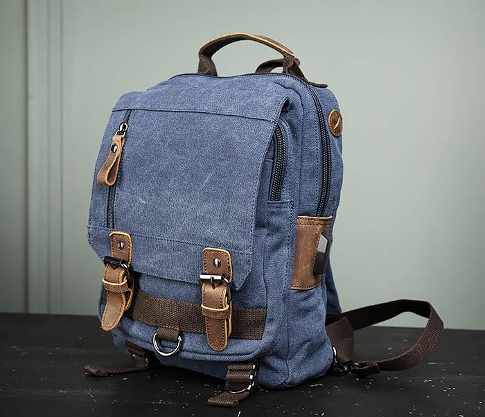 BAG476-4 Городской рюкзак синего цвета USB выходом фото 04
