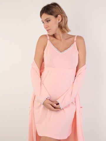 Евромама. Комплект для беременных и кормящих с рукавами 3/4, персик