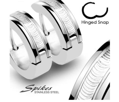 Стильные серьги «Spikes» из ювелирной стали, гравировка