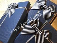 Подарочная коробочка с бантиком. Цвет Синий. Размер S 19х12х7 см.