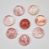 Кабошон круглый Арбузный камень розовый (искусств, тониров), 10 мм