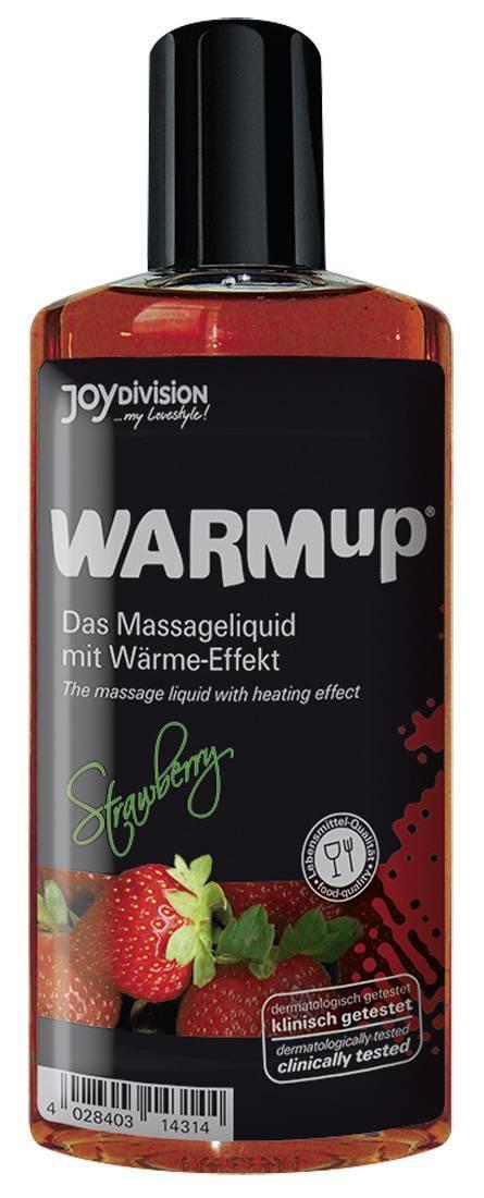 Массажные масла и свечи: Разогревающее масло WARMup Strawberry - 150 мл.