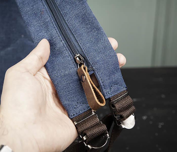 BAG476-4 Городской рюкзак синего цвета USB выходом фото 06