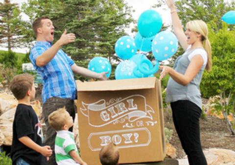 Коробка с шарами пол ребенка Мальчик