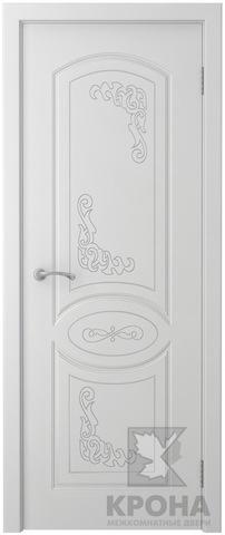 Дверь Крона Муза, цвет белая эмаль, глухая