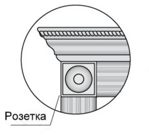 Розетка Декоративная (Вставка Золото Или Серебро)  Profil Doors , цвет магнолия сатинат