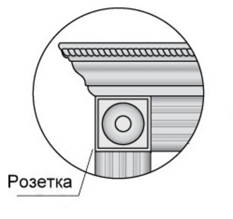 Погонаж - Розетка Декоративная (Вставка Золото Или Серебро) (1) Profil Doors (120х230), цвет магнолия сатинат экошпон