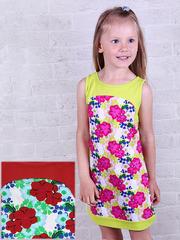 287К-3 платье детское, красное