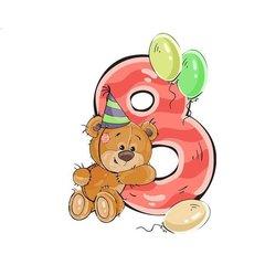 Мишка с цифрой 8