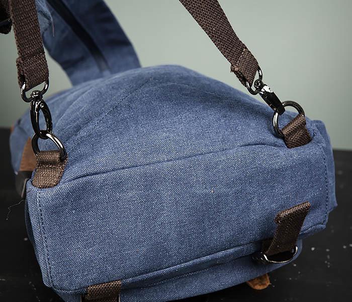 BAG476-4 Городской рюкзак синего цвета USB выходом фото 07