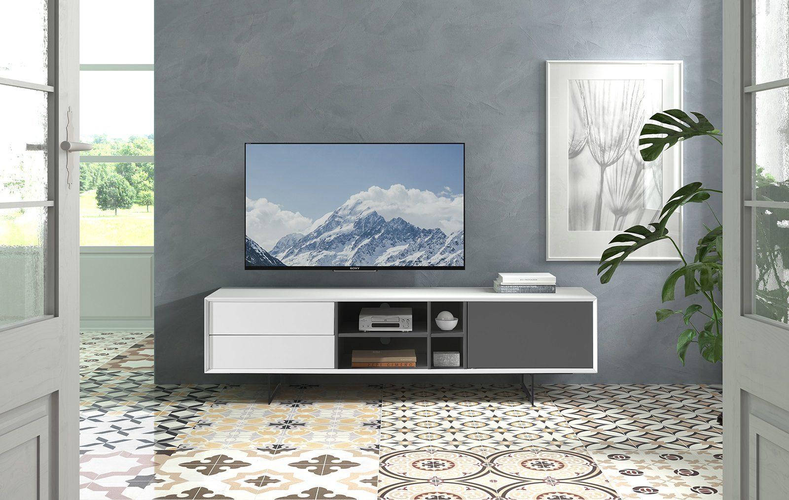 ТВ тумба DUPEN TV-131 белый (white)