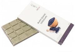Шоколад Okasi с черным кунжутом, 80г