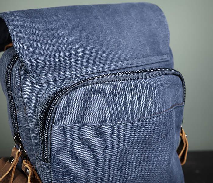 BAG476-4 Городской рюкзак синего цвета USB выходом фото 08