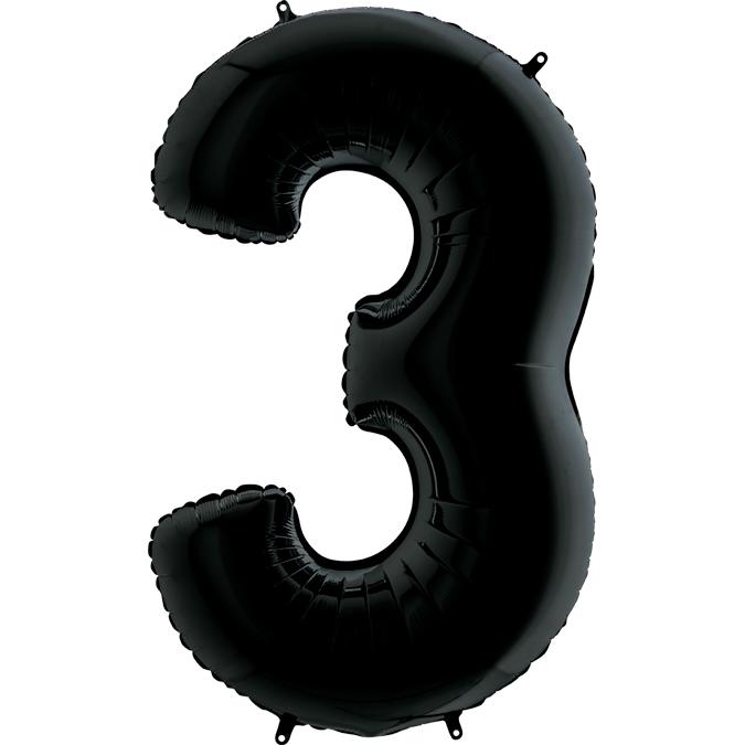 Фольгированные шарики в виде цифр Шар цифра 3 Чёрная 443.jpg
