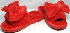 Прикольные домашние тапочки с бантом женские Yes Mile A-08 Red Bow.