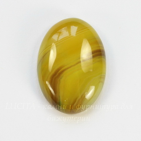 Кабошон овальный Агат Желтый, 24х17 мм
