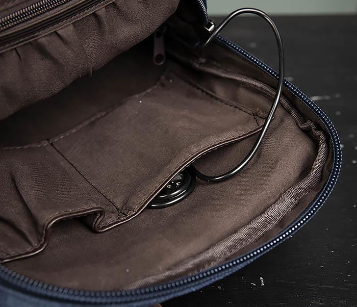 BAG476-4 Городской рюкзак синего цвета USB выходом фото 09