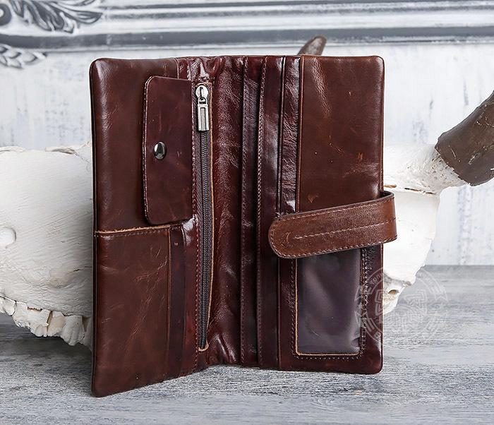 WL270-2 Мужской клатч из кожи винтажного дизайна фото 05