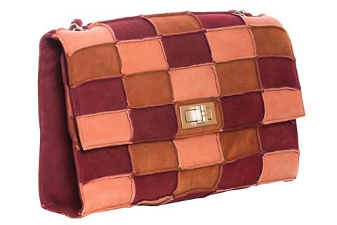 Стильная и оригинальная замшевая сумочка в стиле пэчворк от Chanel