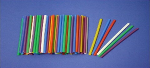 Трубочка Мартини, микс, диаметр 4,8 мм, длина 12,5 см (200 шт.)