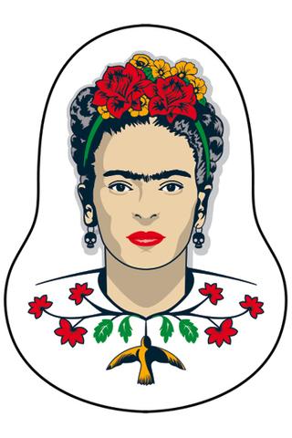Деревянный значок Фрида Кало