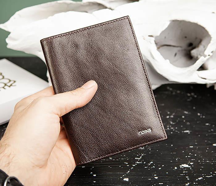 BC217-2 Кожаная обложка коричневого цвета для авто документов, «Atos» фото 08