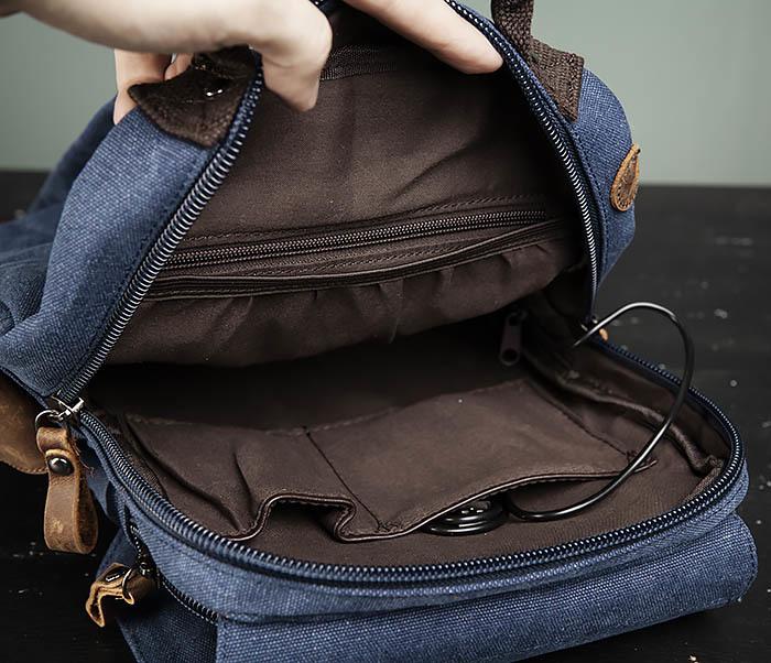 BAG476-4 Городской рюкзак синего цвета USB выходом фото 10