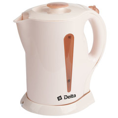 Чайник электрический 2200 Вт, 1,7 л DELTA DL-1301 бежевый