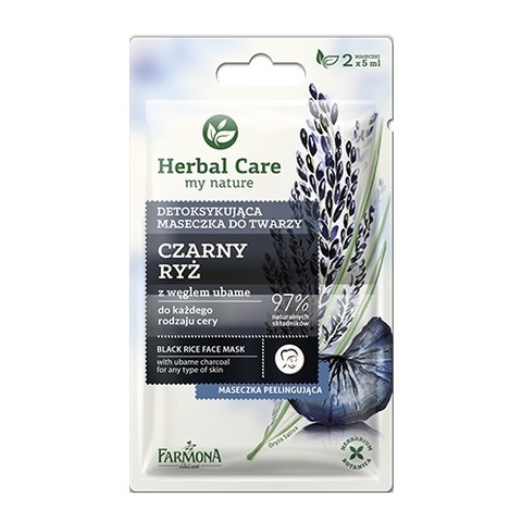 Farmona Маска детокс для лица Черный Рис Herbal Care Black Rice 2x5мл
