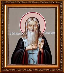 Михаил Клопский, Новгородский, Христа ради юродивый Преподобный. Икона на холсте.