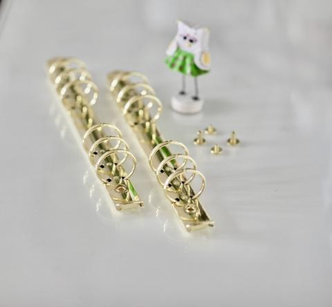 Кольцевой механизм на 6-ти кольцах, А5, с винтовым креплением -Золото