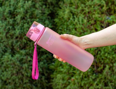 Бутылка POWCAN - 1000 мл. матовая - Розовый