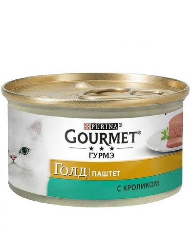 Gourmet Gold консервы для кошек кролик 85г