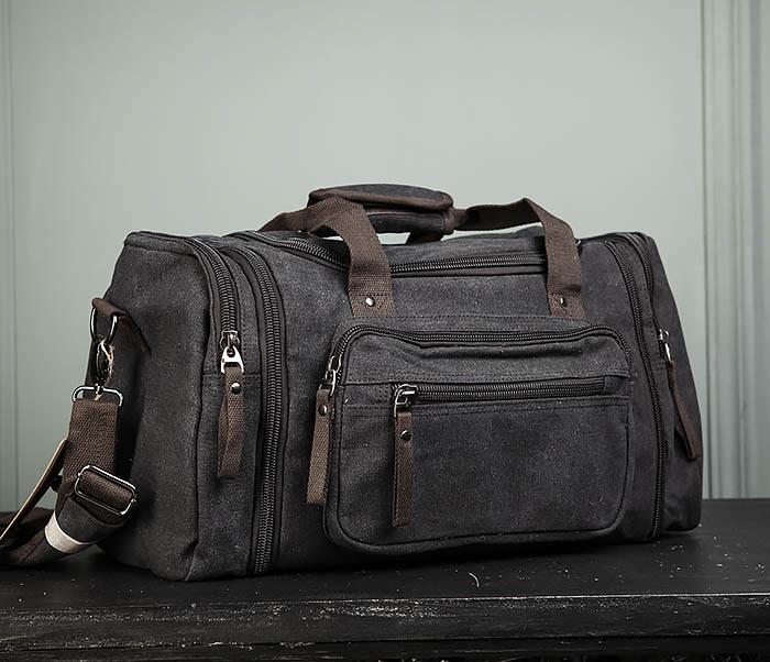 BAG477-1 Большая тканевая сумка с ремнем на плечо фото 01