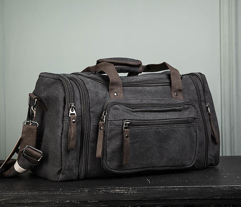 Большая тканевая сумка с ремнем на плечо