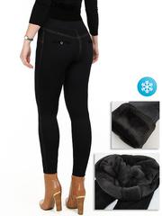 A306 лосины-брюки женские утепленные, черные